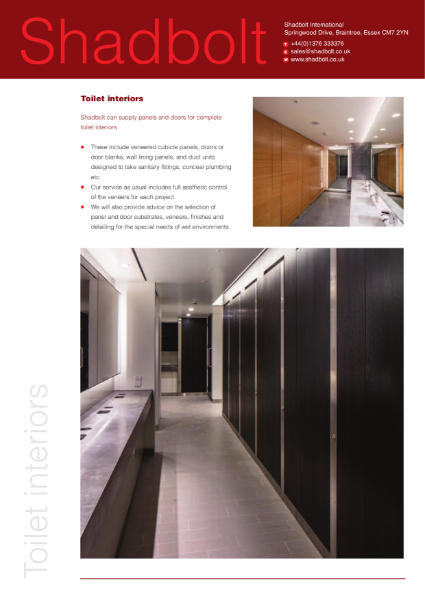 Toilet interiors