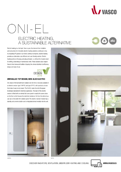 Vasco Aluminium Design Oni Electric