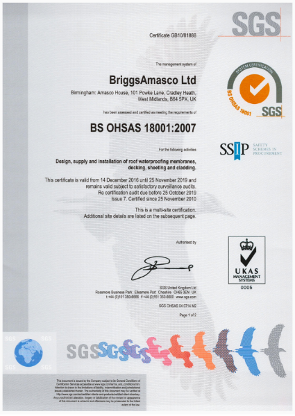 BriggsAmasco BS OHSAS 18001:2007