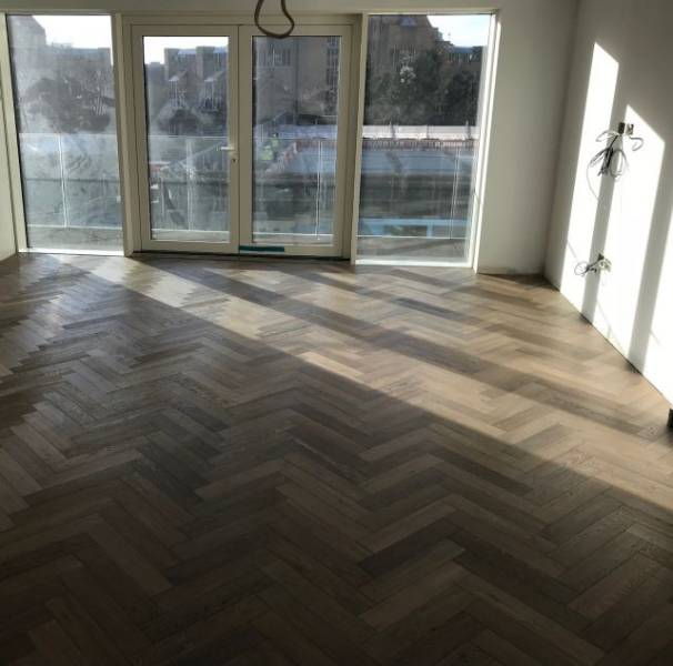 Herringbone Fumed Parquet UV Oiled Engineered Wood Flooring