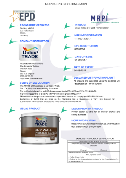 13 MRPI EPD Dry Wall Primer Sealer DEF