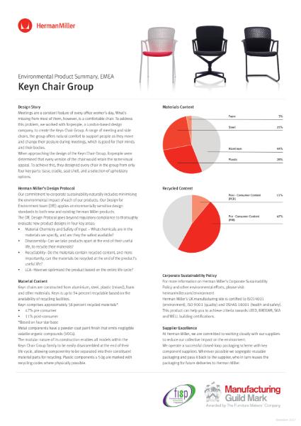 Keyn Chair - Environmental Product Summary