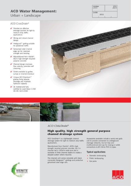 ACO CivicDrain brochure