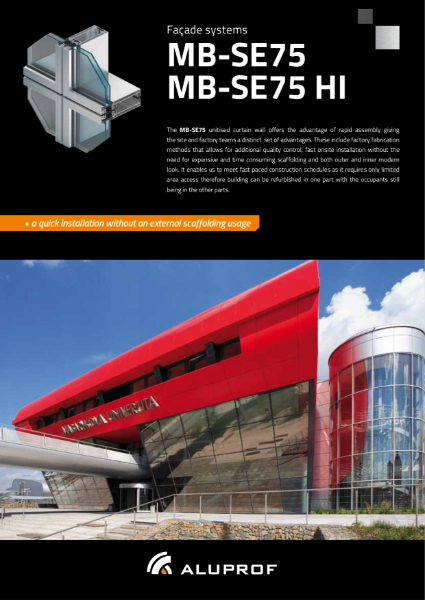 MB-SE75 Unitised facade system - Product information