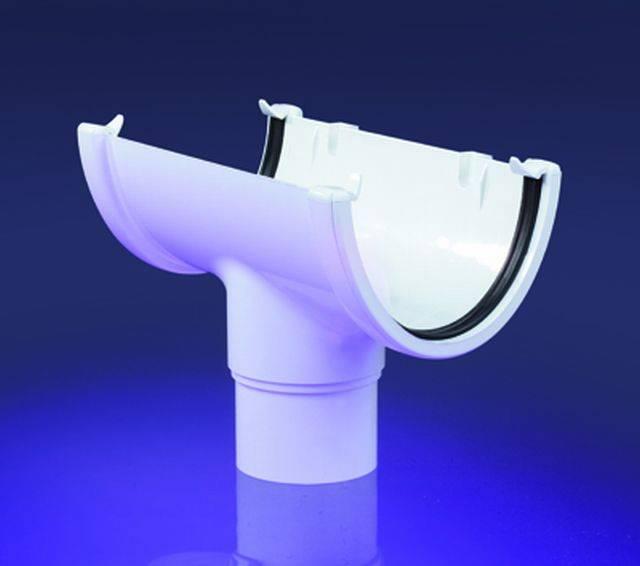 Hi-Cap semi-elliptical PVC-U gutters