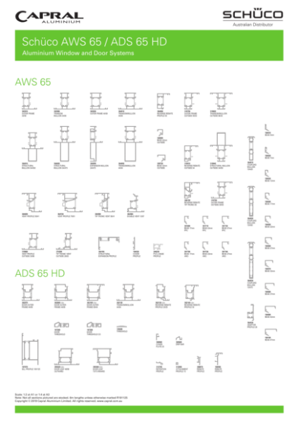 Extrusion Wall Chart Schuco AWS ADS 65