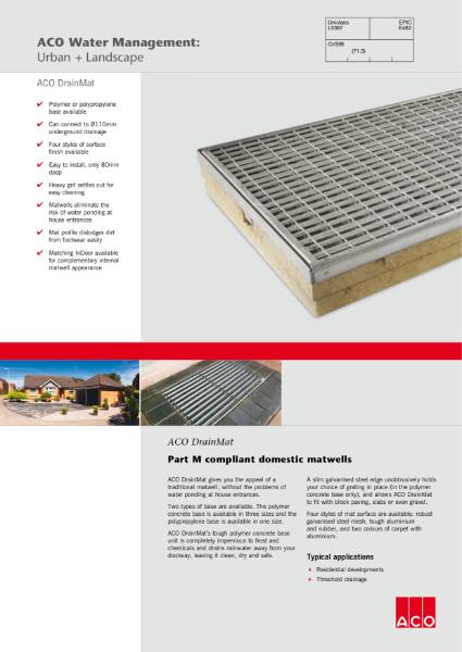 ACO DrainMat brochure