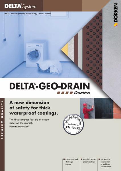Delta-Geo-Drain Quattro Four-ply Drainage Sheet