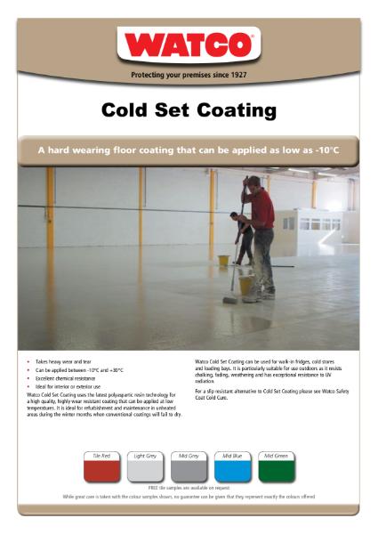 Watco Cold Set Coating