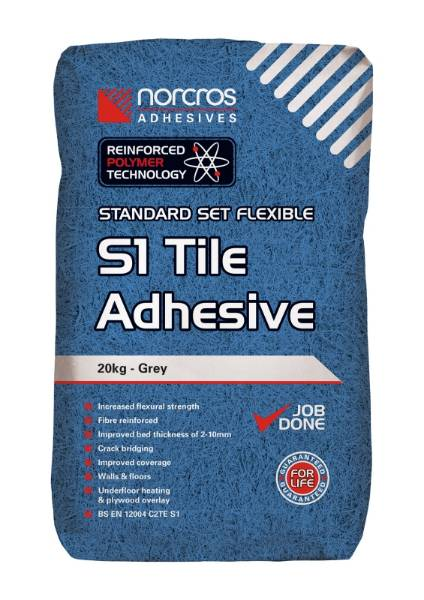 Norcros Standard Set Flexible S1 Grey Tile Adhesive
