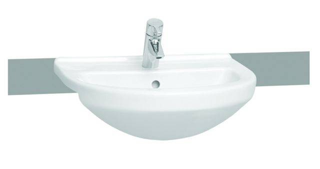 VitrA S50 Semi-recessed Washbasin, 55 cm, Round, 5307