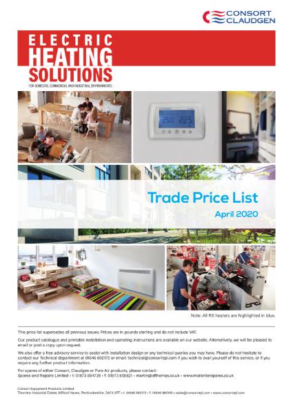 Trade Price List April 2020