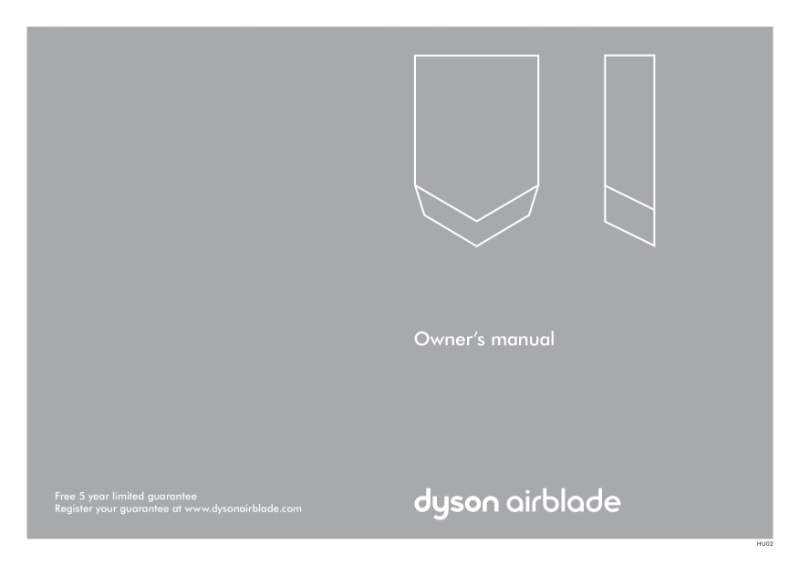 Owners manual - Dyson Airblade V