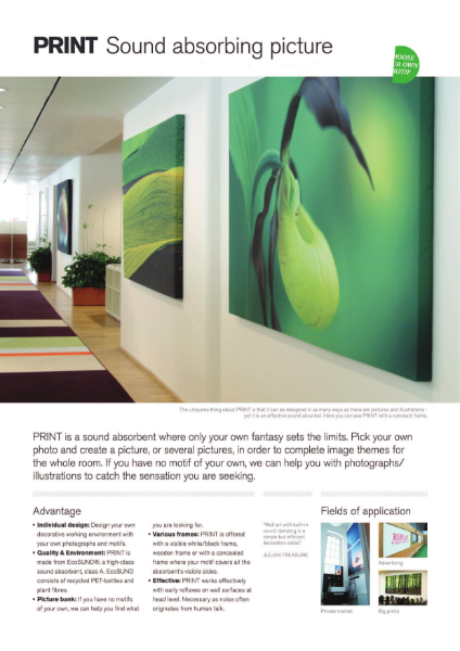 PhotoPrint Acoustic Panels