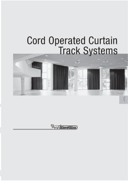 Cord Operated Curtain Track Systems by Silent Gliss