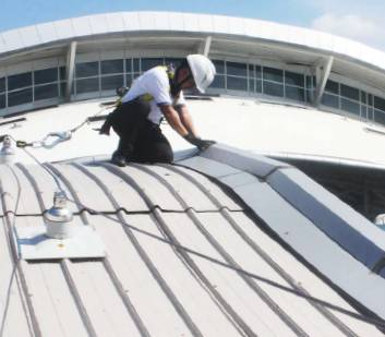 Bali International Airport: Fall Protection Systems for Roof Maintenance