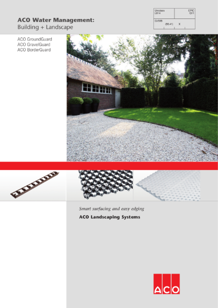 ACO Landscaping Systems brochure