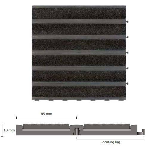 Entrance Matting: Q-Tile 50 cm Matting Tile