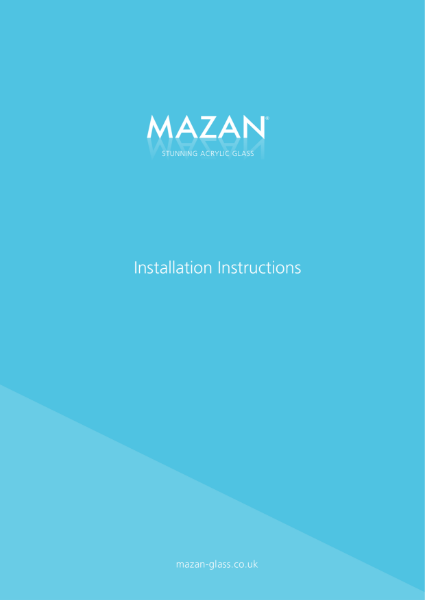Mazan Installation Instructions