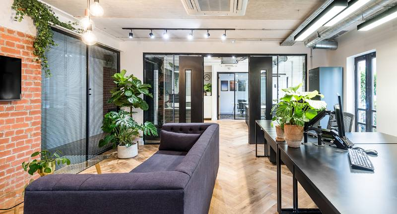 Office Lighting for a Fast Paced Office Fitout. Palm Tree Court, London.