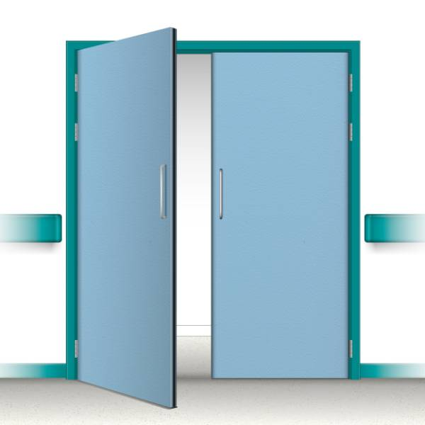 Postformed Double Doorset - Without Vision Panel