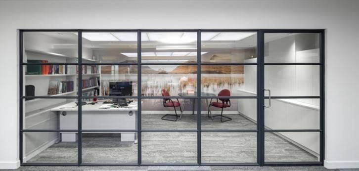 Fleet Street offices modernised with striking internal steel screens