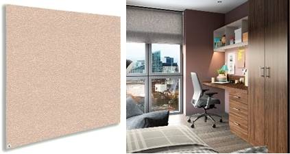 Sundeala K Noticeboard - Frameless with Fabric
