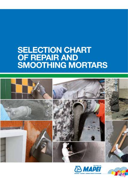 Selection Chart Of Repair and Smoothing Mortars