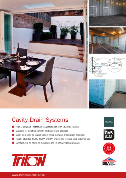 Triton Systems Type C Structural Waterproofing (Cavity Drain Systems) brochure