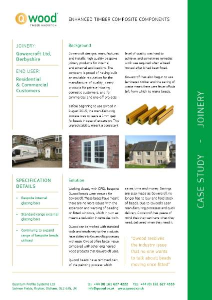 Gowercroft Qwood Case Study