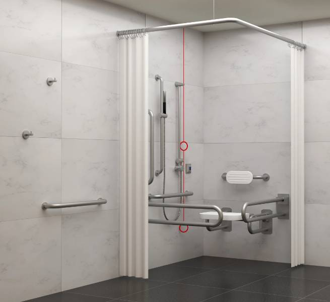 BC5083-SHE Dolphin Stainless Steel Doc M Shower Set