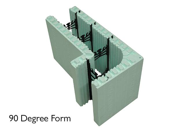 Nudura 90 Degree ICF unit