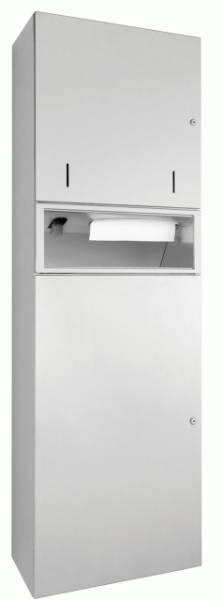DP4112 Dolphin Prestige Combination Paper Towel, Soap Dispenser and Waste Bin