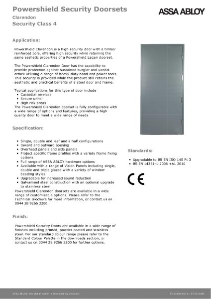 Class 4 - Powershield Security Doorsets