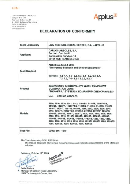 Arboles UK ANSI Certification