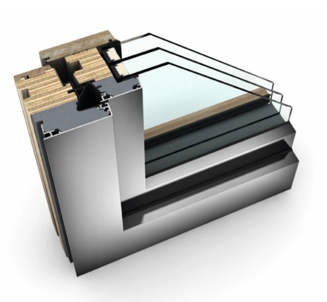 HF 410 Timber/ Aluminium Window