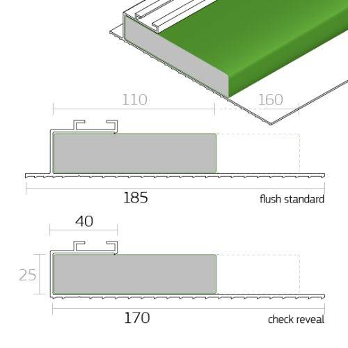 Dacatie TFR1000 / TFR2000 30 Minute Fire Rated Fire Cavity Barrier for window and door reveals