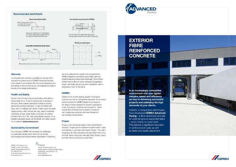 Advanced Paving - Exterior Fibre Reinforced Concrete