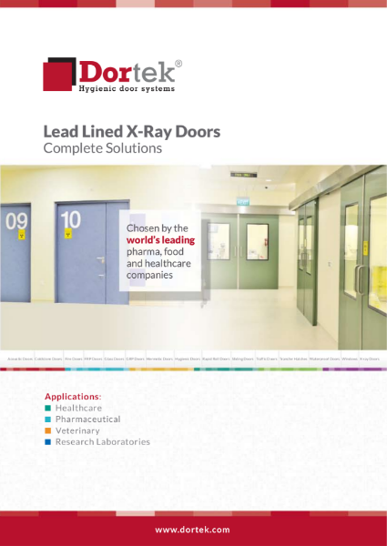 9.5. Hygienic Lead Lined X-Ray Doors