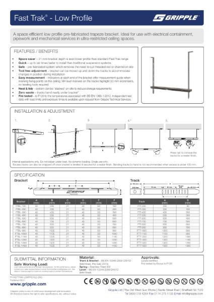 Fast Trak Low Profile PI Sheet