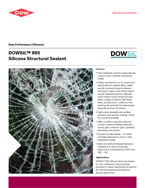 DOWSIL 995 Silicone Structural Glazing Sealant