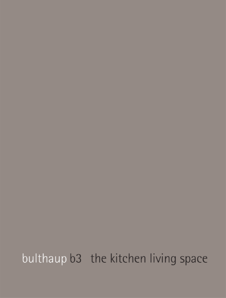 bulthaup b3 - the kitchen living space