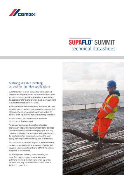 Supaflo Summit - Flowing Screed for High Rise Applications