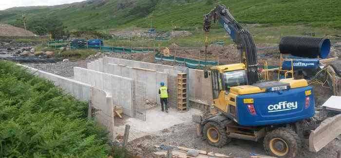 Lake District stream unstraightened in concrete project