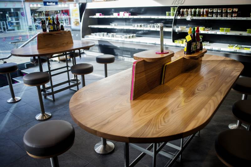 ITSU chooses American Red Elm for new concept booth seating
