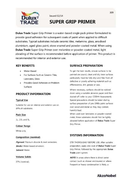 Dulux Trade Super Grip Primer