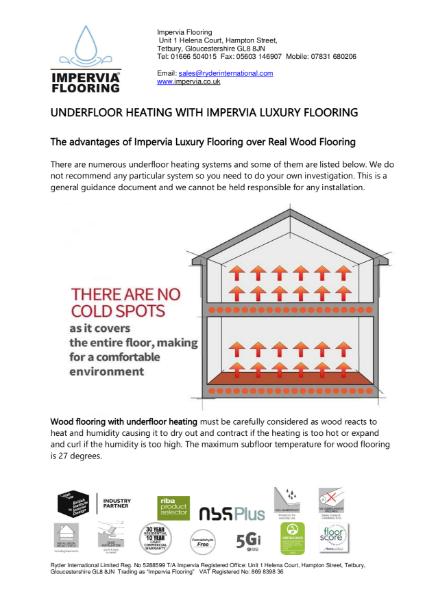 Impervia Flooring & Under Floor Heating Guide