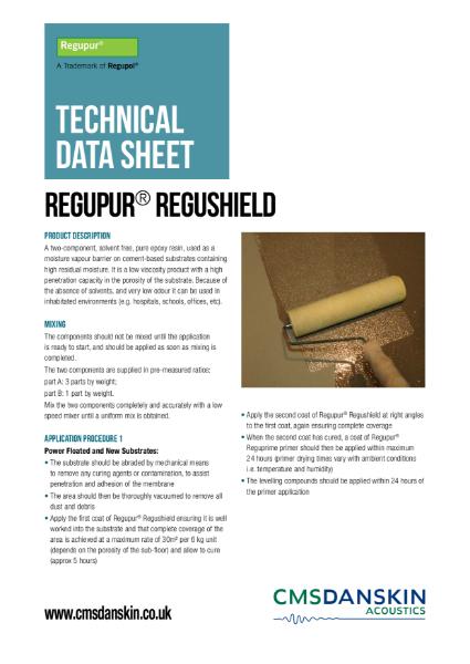 CMS Danskin Acoustics Regupur Regushield TDS