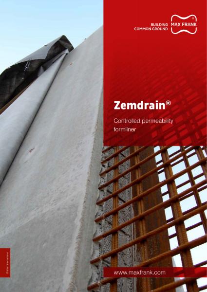 Zemdrain - CPF formwork liner