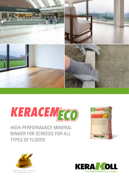 Keracem Eco - Rapid setting screed binder